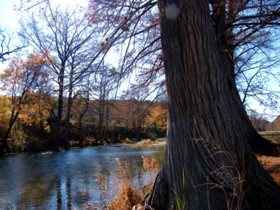river in Kerr County Texas near Hunt, TX. Healthy creeks + rivers to keep Hunt beautiful