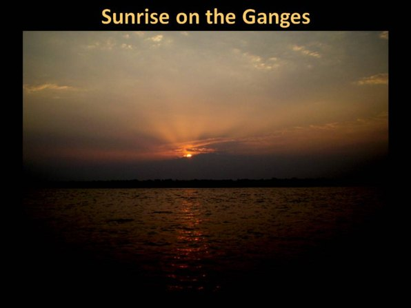 sunrise at the Ganges in India