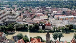 Neu-Ulm on the south side of the Donau = danube - many citizens try to keep Neu-Ulm beautiful