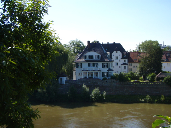 old beautiful houses along the Donau in Neu-Ulm