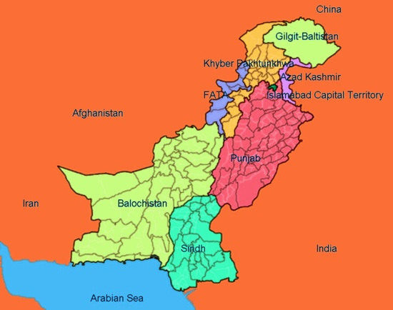 Pakistan has several regions with different cultures