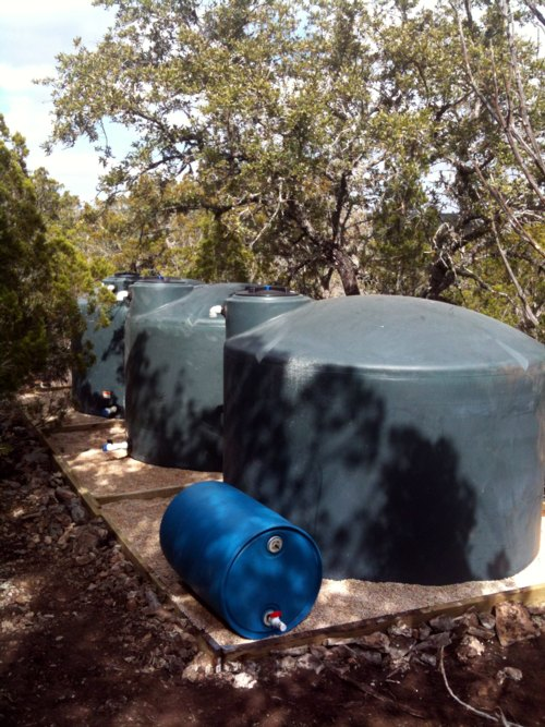 water is a big problem in the Texas Hill Country. Rainwater harvesting helps to reduce the amount of water pumped up from the aquifer, native plants grow better with rainwater, rainwater catchment systems reduce run off lowering erosion