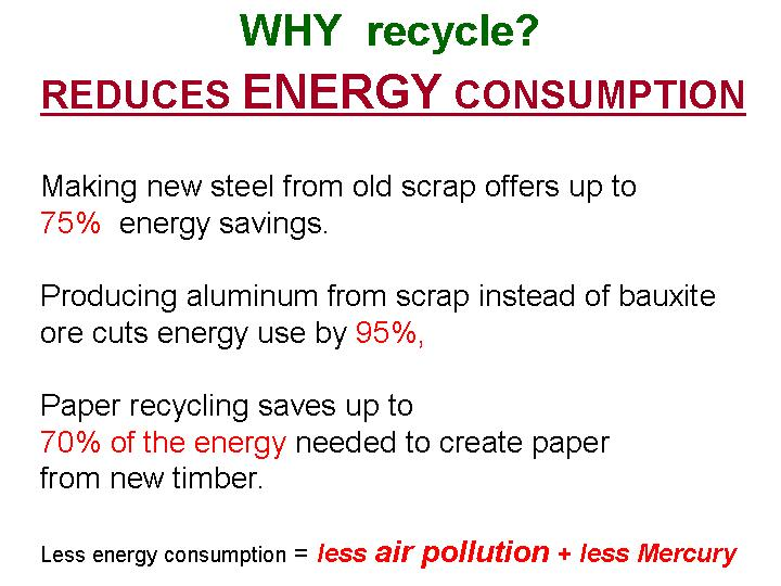 when you recycle you save money and help nature, help your children to have better air and safer water